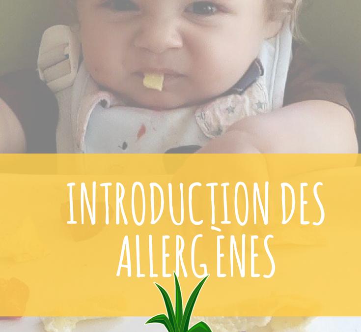 L'introduction des allergènes