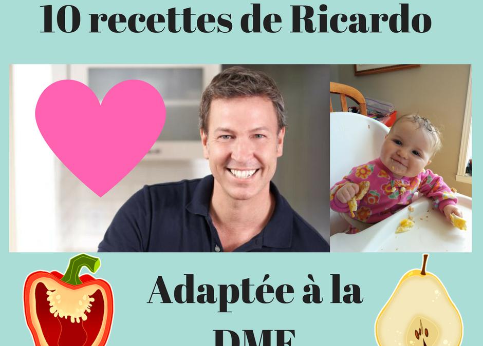 Série DME: Des recettes à la table #2: 10 recettes de Ricardo adaptées à la DME