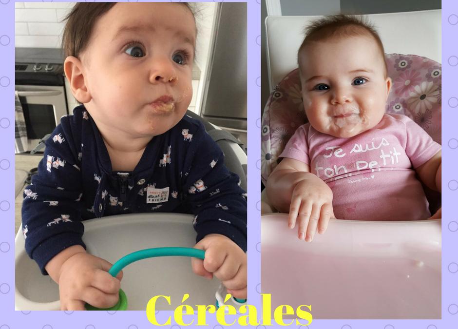 3 Idées céréales de bébé