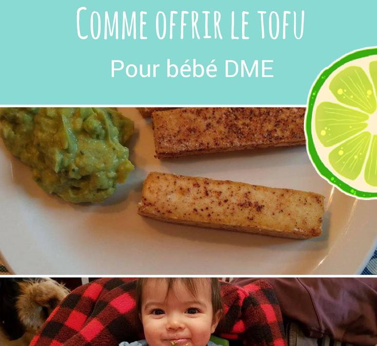 Comment offrir le tofu en DME et idées recettes