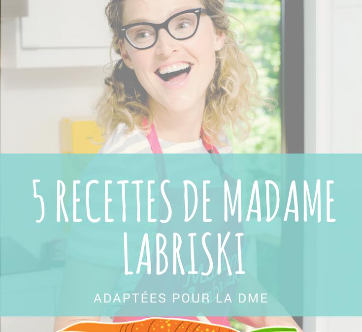 Série DME: 5 recettes de galettes Labriski adaptées à la DME